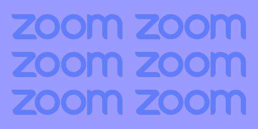 We'll meet by Zoom